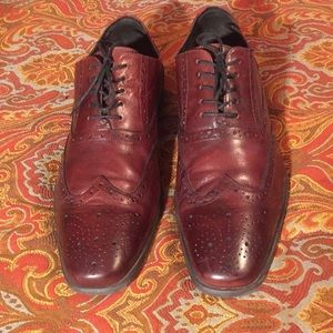 Other - Men's Burgundy Aston Grey Leather Shoes - Size 13